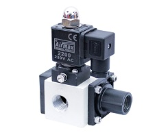 3 By 2 WAY POPPET TYPE SINGLE SOLENOID VALVE